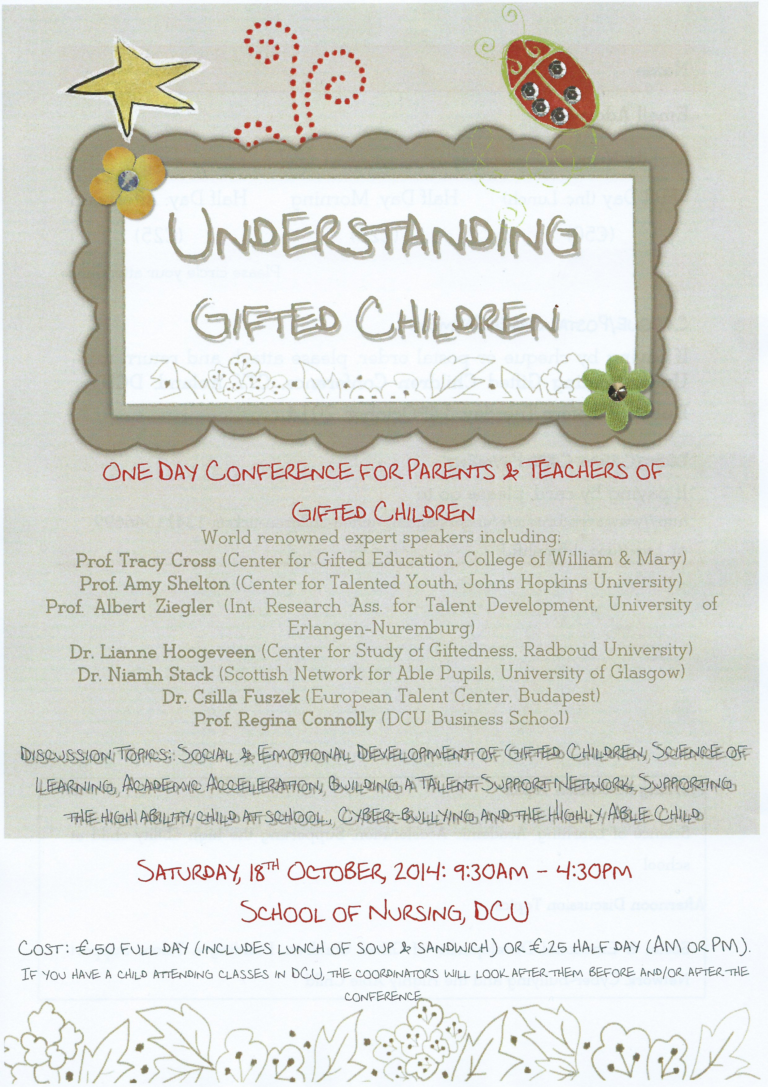 Guiding Gifted Children conference CTYI