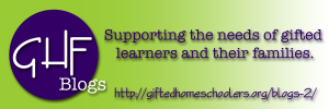 Gifted Homeschoolers Blogging Badge